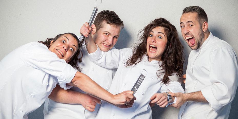 Cocineros de Escuela de Hostelería del IES de Foz