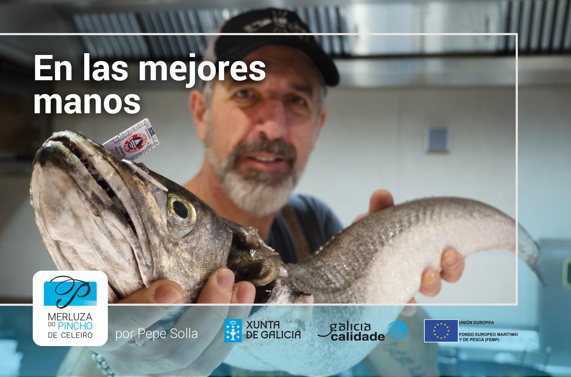 Popup de Pepe Solla con la merluza de pincho de Celeiro - En las mejores manos